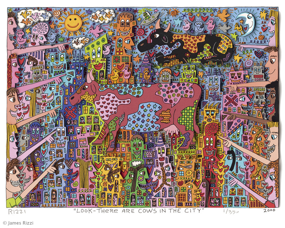 james rizzi look there are cows in the city