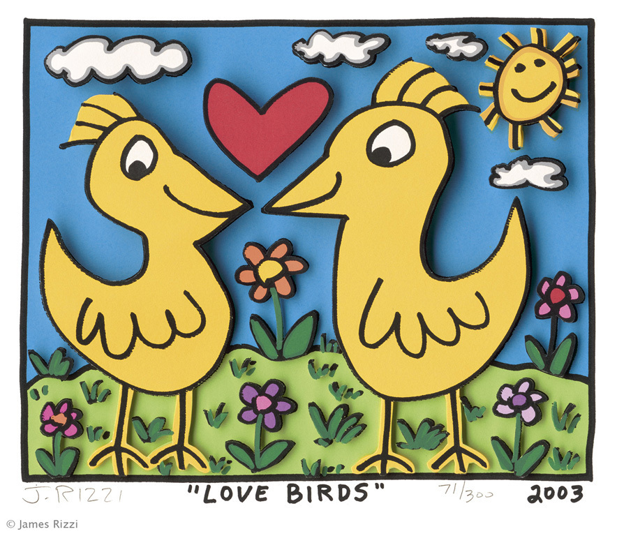 James Rizzi - LOVE BIRDS 2003