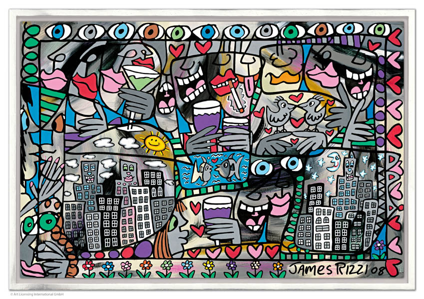 James Rizzi - SO HAPPY TOGETHER inkl. Rahmen