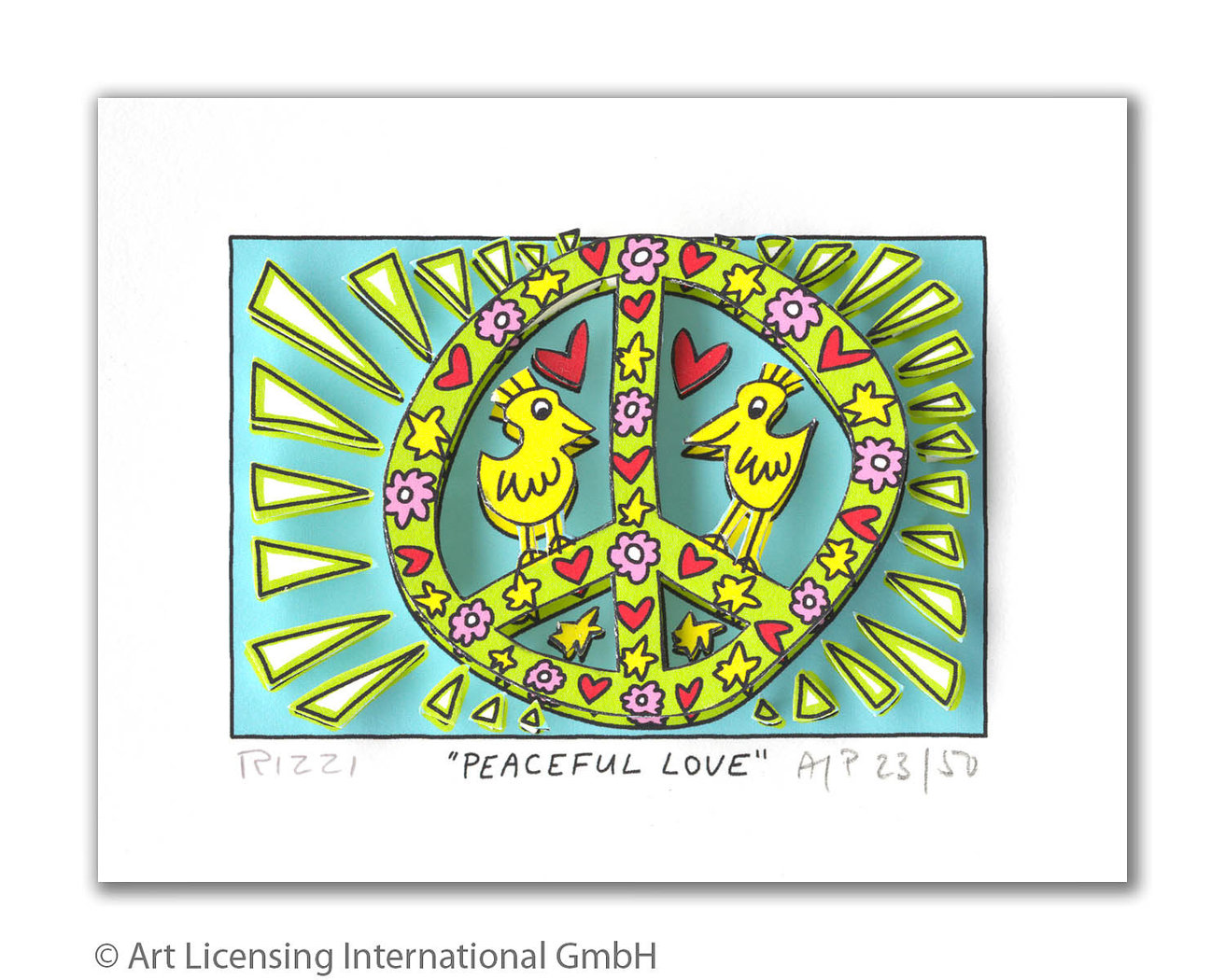 James Rizzi - PEACEFUL LOVE