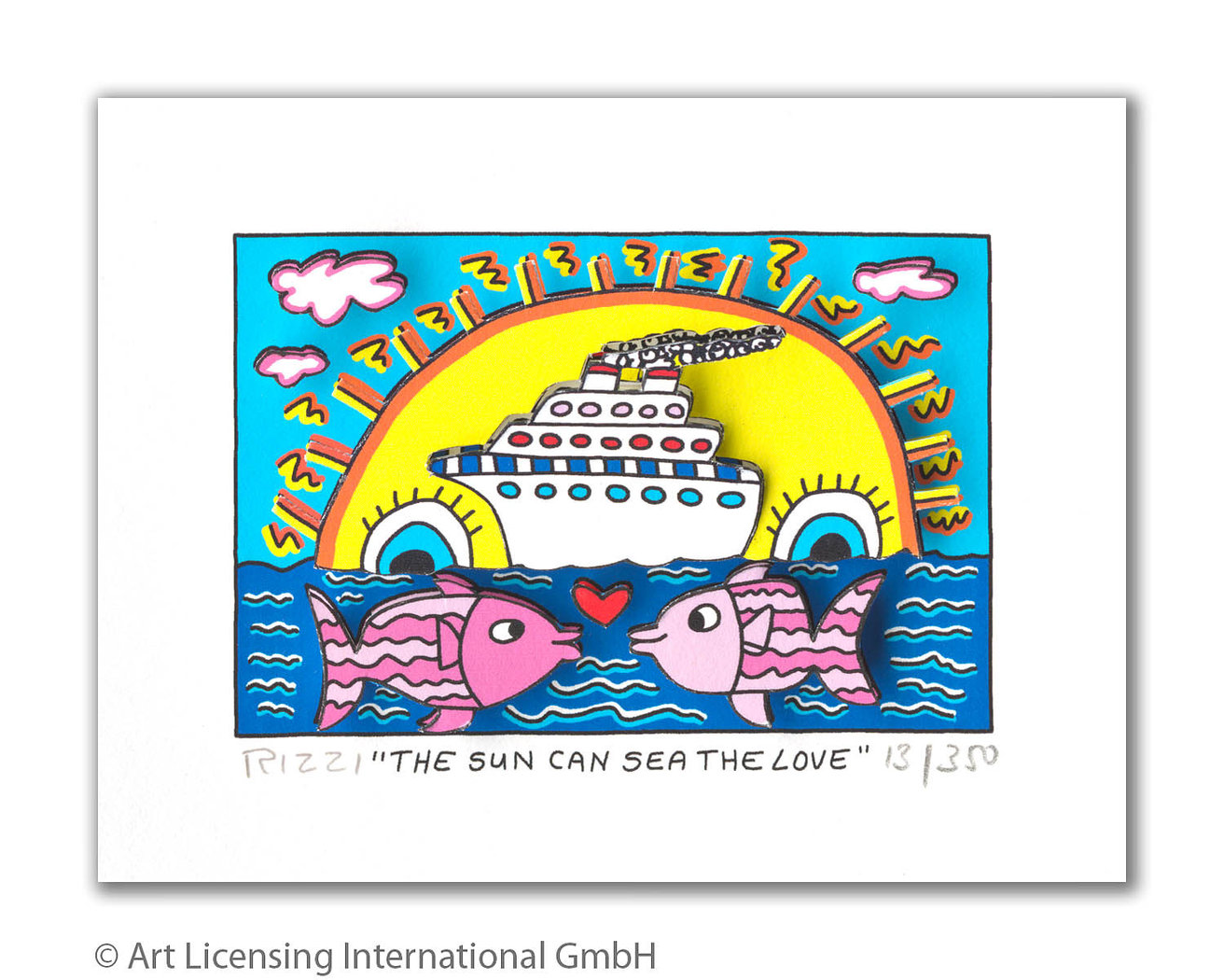 James Rizzi - THE SUN CAN SEA THE LOVE
