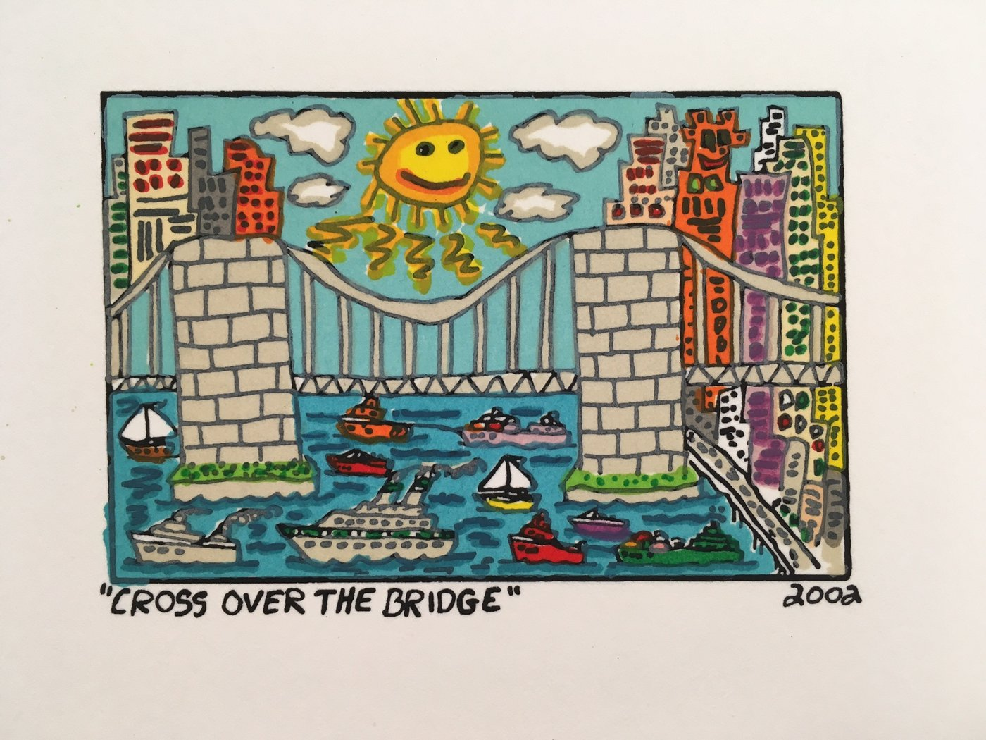 James Rizzi - CROSS OVER THE BRIDGE