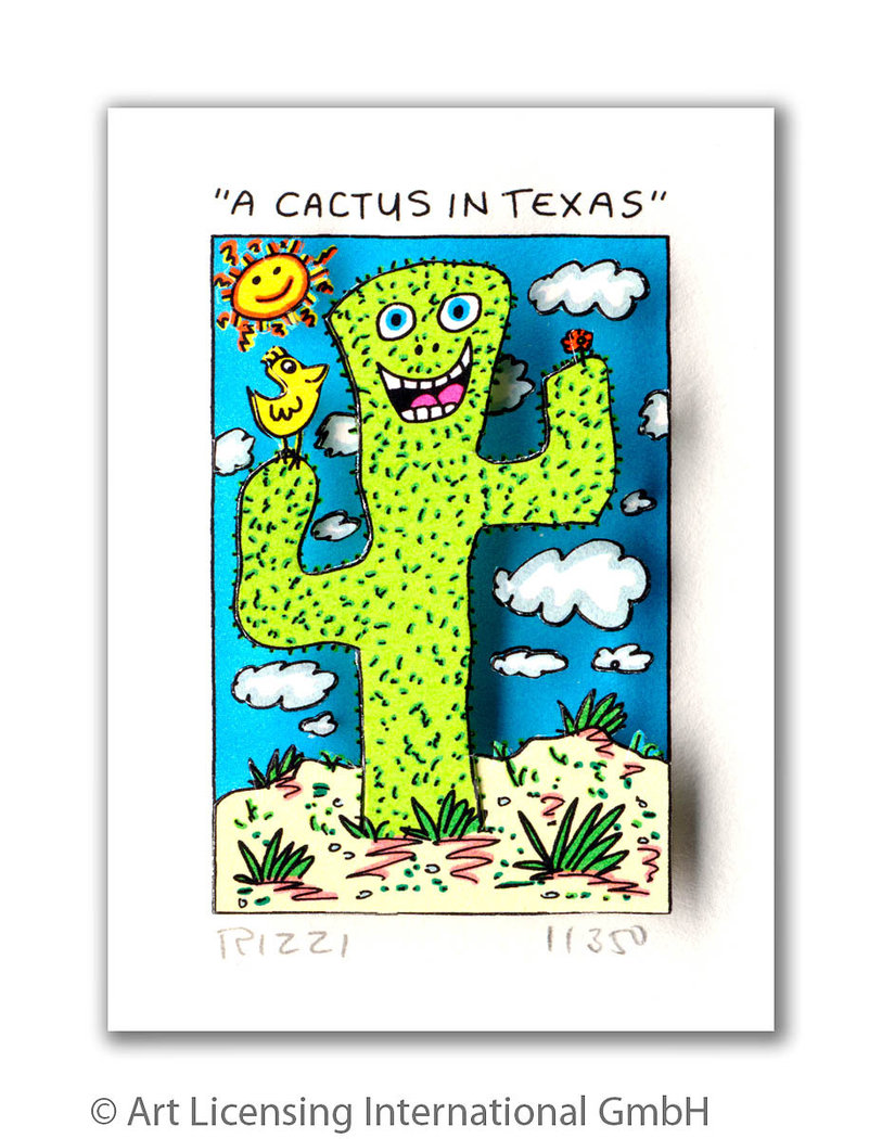 James Rizzi - A CACTUS IN TEXAS