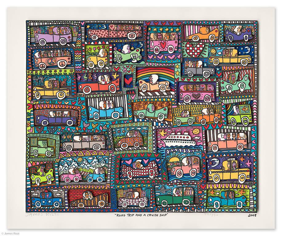 James Rizzi - ROAD TRIP AND A CRUISE SHIP