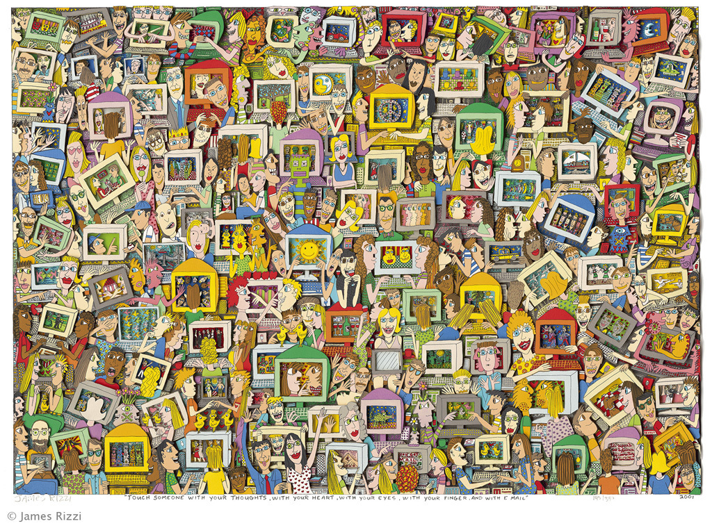 James Rizzi - TOUCH SOMEONE WITH YOUR THOUGHTS