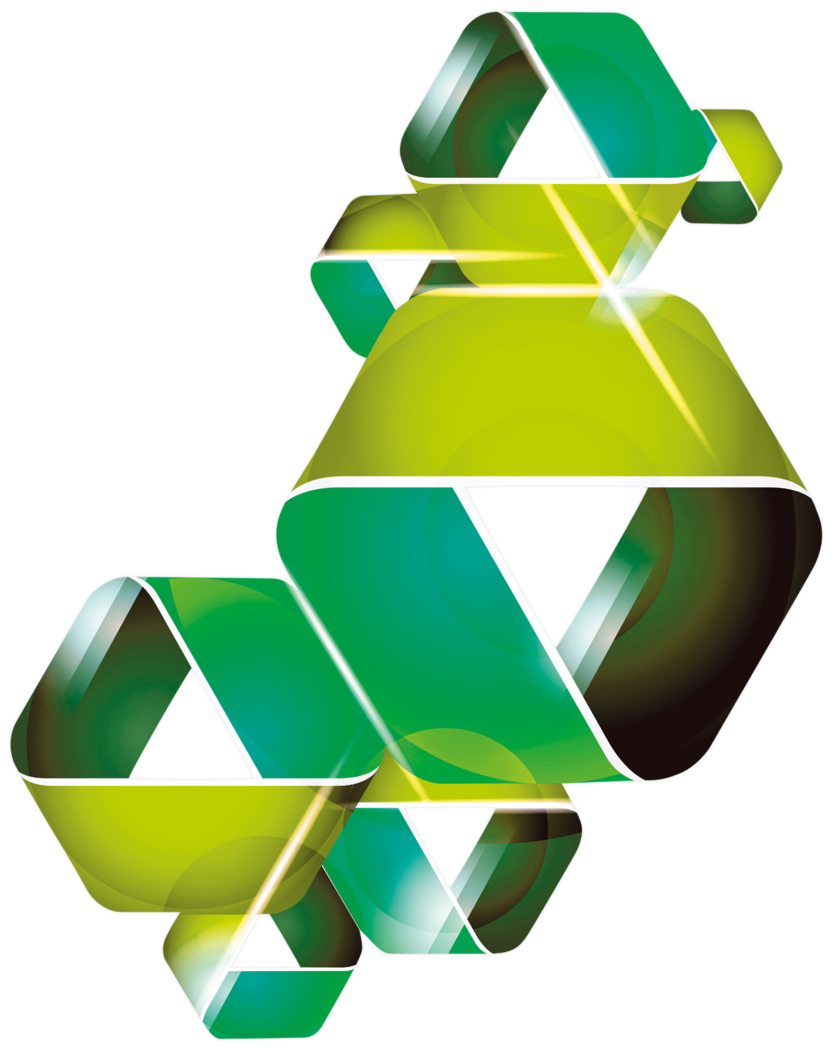 Acryl-Wandbild - Triangle band green