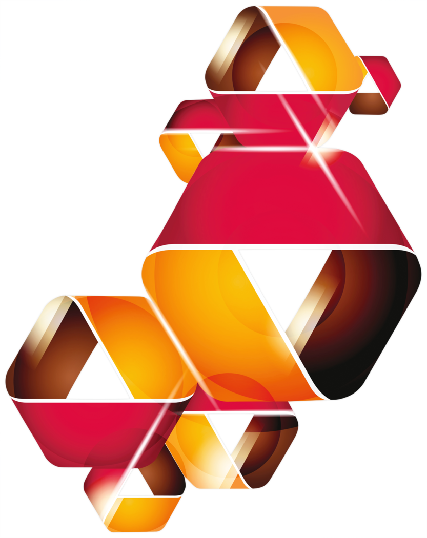 Acryl-Wandbild - Triangle band red