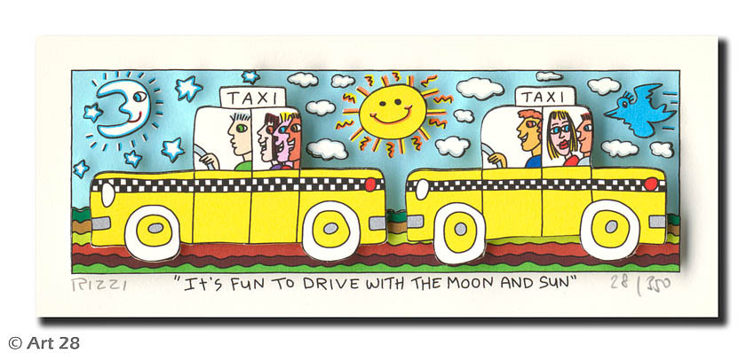 James Rizzi - IT'S FUN TO DRIVE WITH THE MOON AND SUN