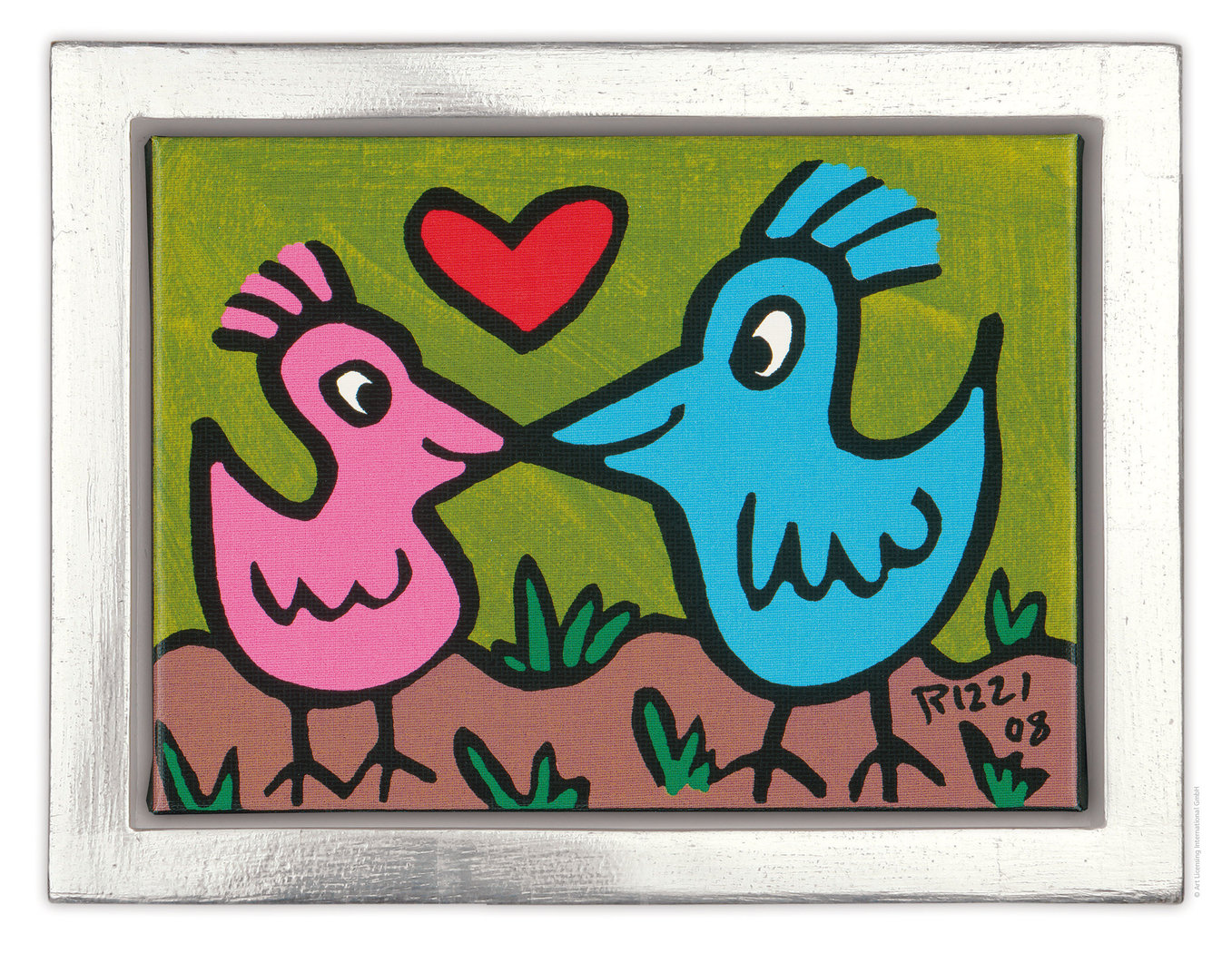 James Rizzi - JUST LIKE LOVE BIRDS inkl. Rahmen