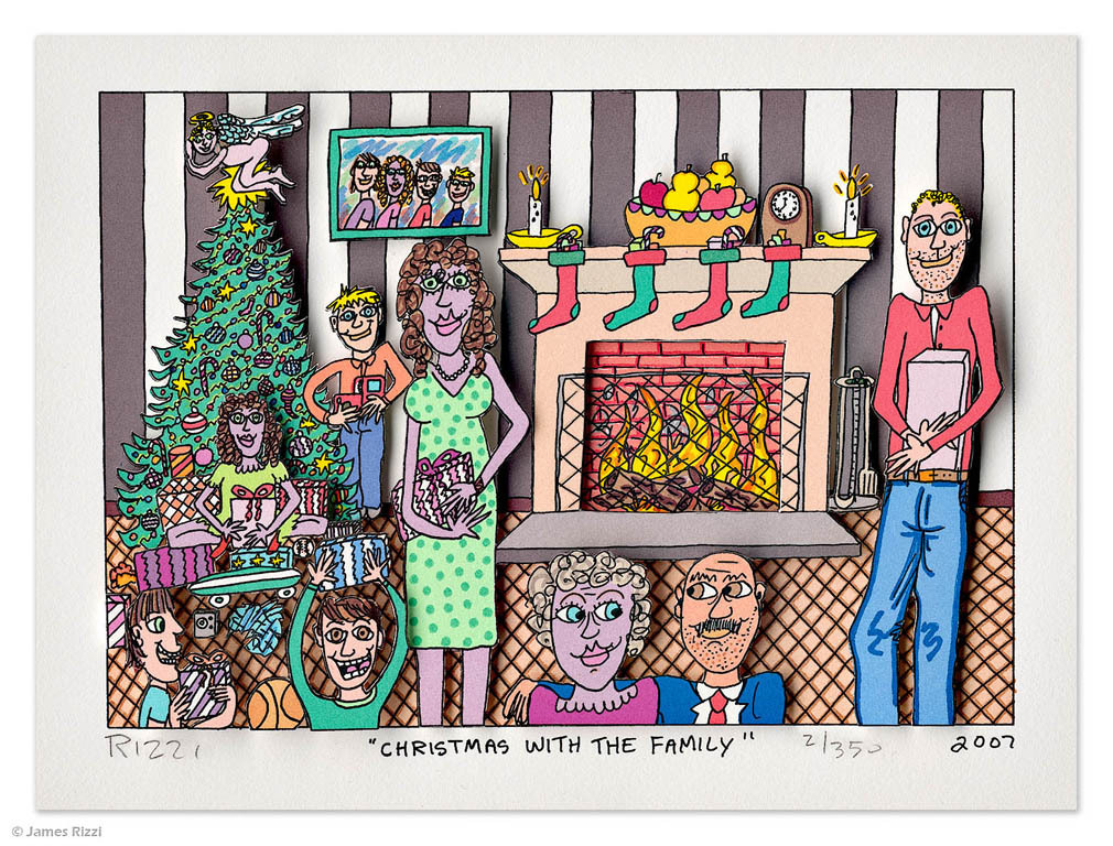 James Rizzi - CHRISTMAS WITH THE FAMILY
