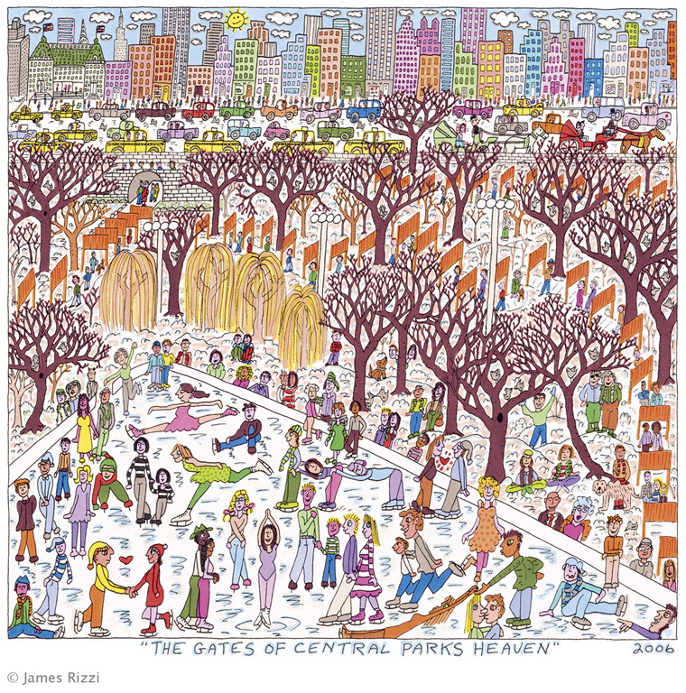 "James Rizzi - Buch + 2D ""THE GATES OF CENTRAL PARKS HEAVEN"""