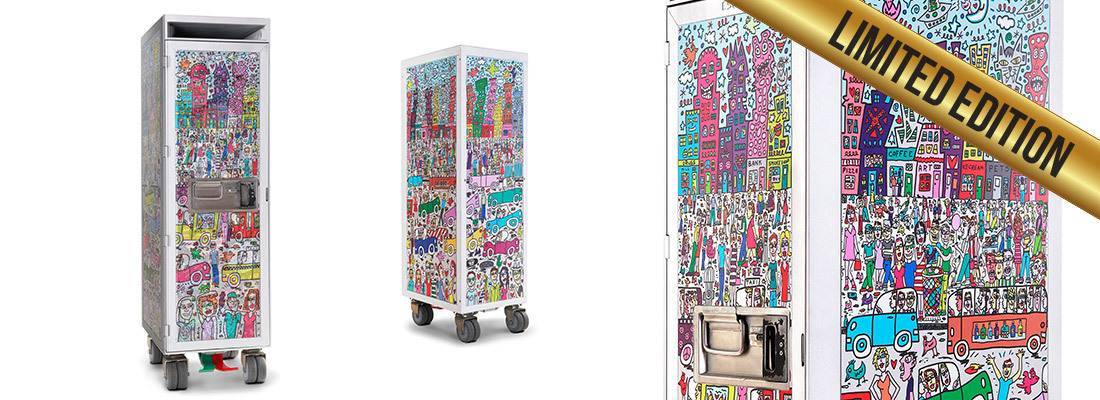 James Rizzi - Art Trolley - NOTHING IS AS PRETTY AS A RIZZI CITY