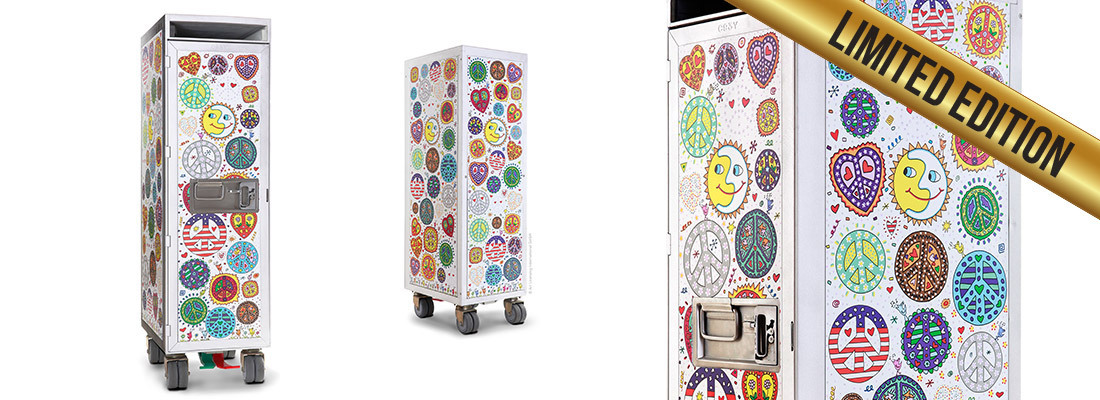 James Rizzi - Art Trolley - PEACE (weißer Grund)