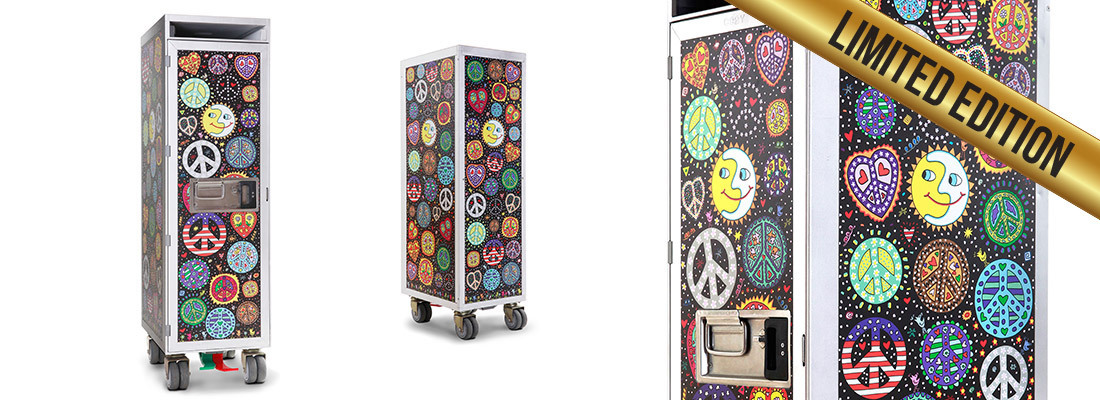 James Rizzi - Art Trolley - PEACE (schwarzer Grund)
