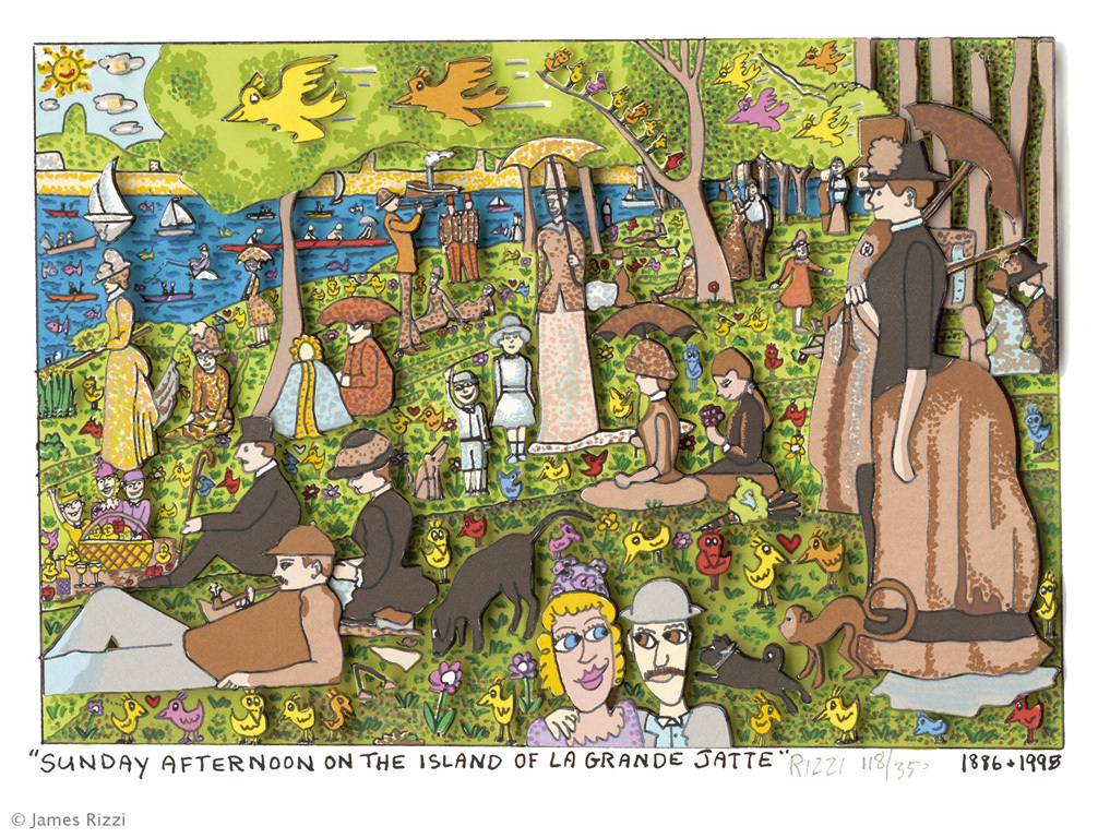 James Rizzi - SUNDAY AFTERNOON ON THE ISLAND OF GRANDE JATTE