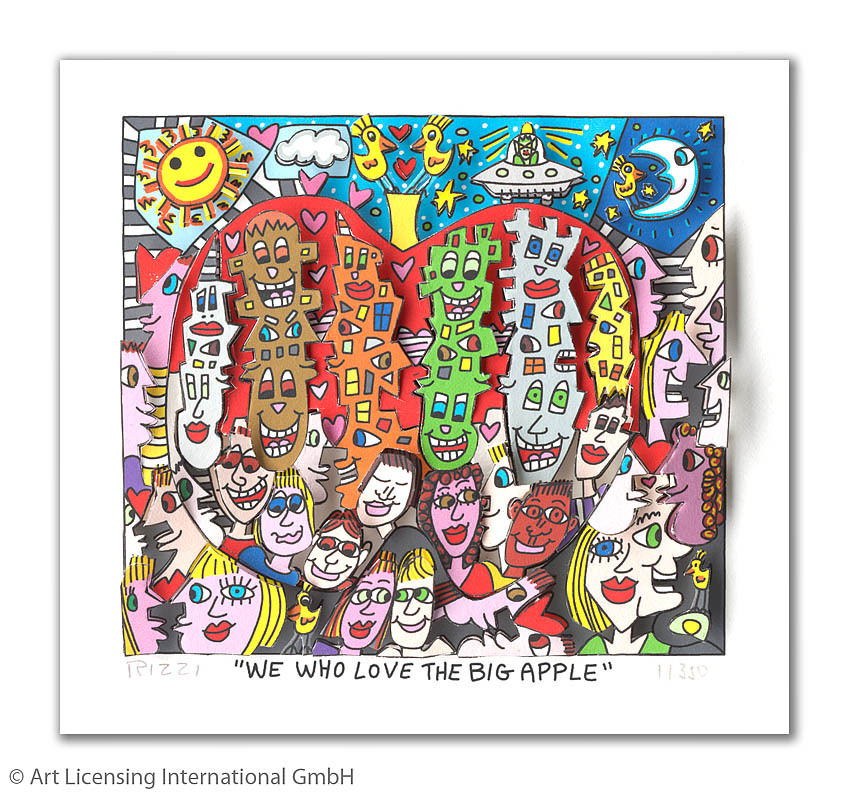 James Rizzi - WE WHO LOVE THE BIG APPLE