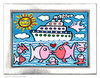 James Rizzi - THE KISSING CRUISE inkl. Rahmen