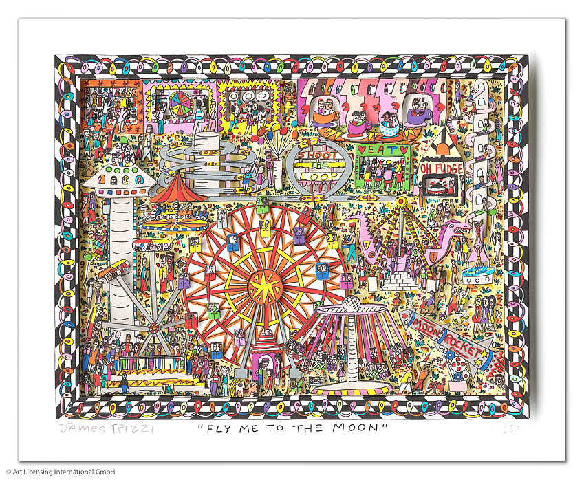 James Rizzi - FLY ME TO THE MOON
