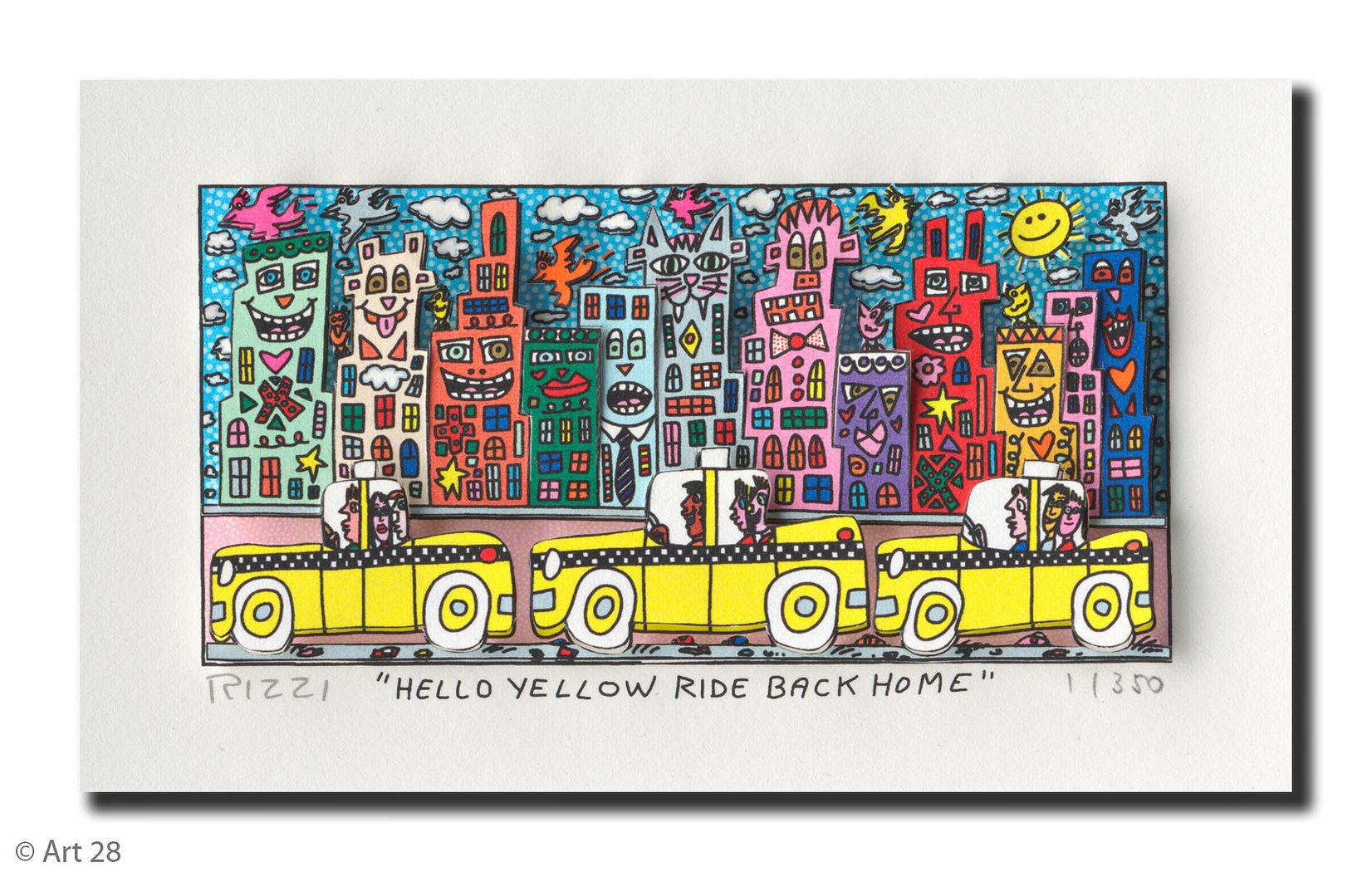 James Rizzi - HELLO YELLOW RIDE BACK HOME