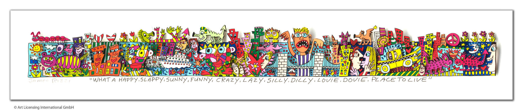 James Rizzi - WHAT A HAPPY, SLAPPY, SUNNY, FUNNY ...