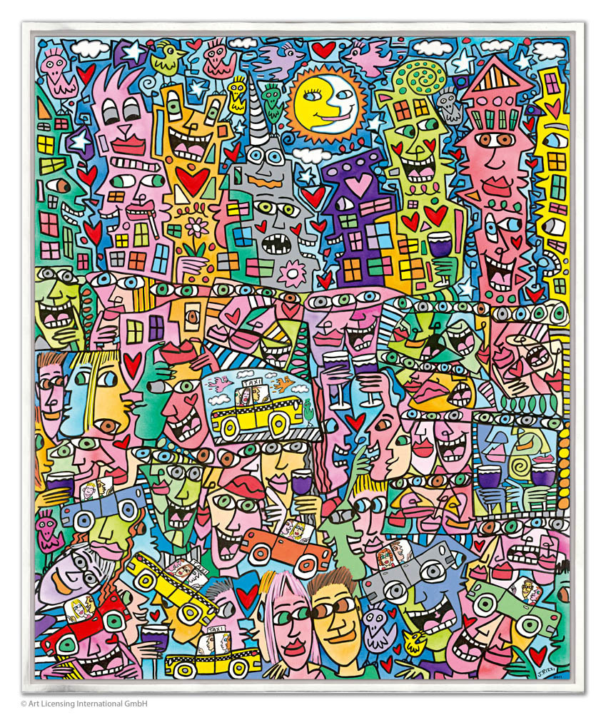 James Rizzi - GETTING THE MOST OUT OF LIFE inkl. Rahmen