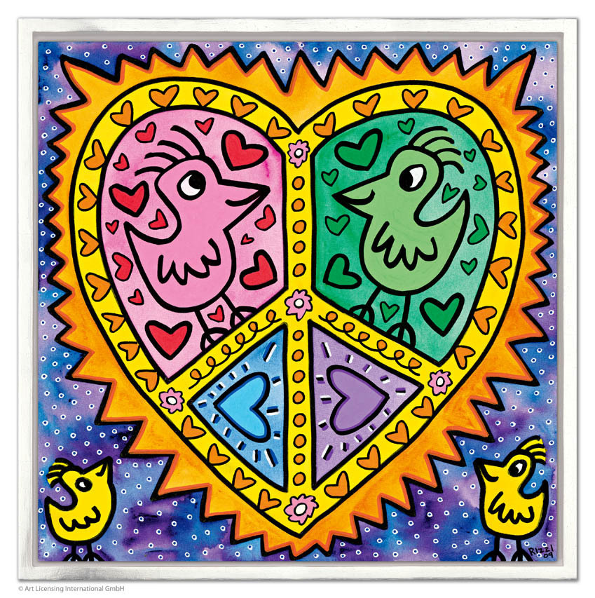 James Rizzi - MOMMY + DADDY IN LOVE inkl. Rahmen