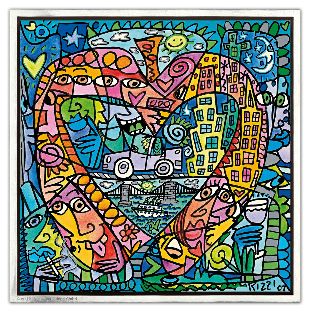 James Rizzi - MY HEART LIVES IN MY BIG APPLE