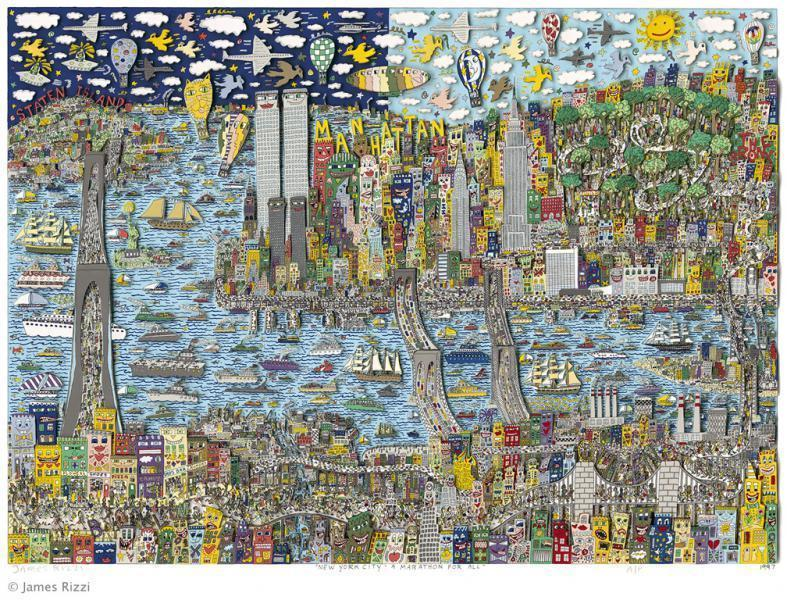James Rizzi - NEW YORK CITY - A MARATHON FOR ALL