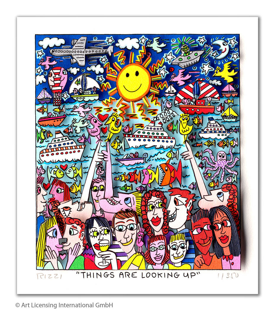 James Rizzi - THINGS ARE LOOKING UP