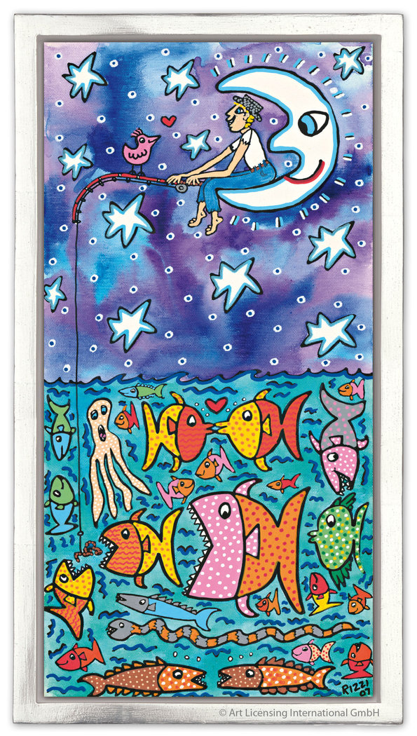 James Rizzi - THE BIG SKY AND THE DEEP SEA ... - inklusive Rahmen