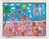 James Rizzi - BEING ON THE BEACH - inklusive Rahmen