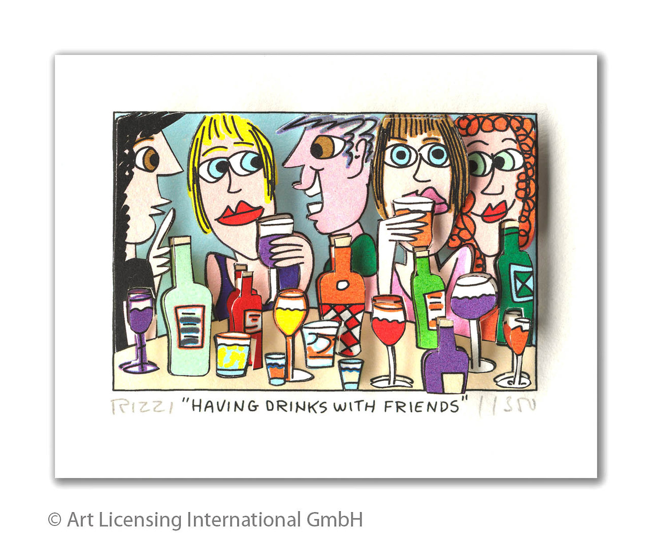 James Rizzi - HAVING DRINKS WITH FRIENDS
