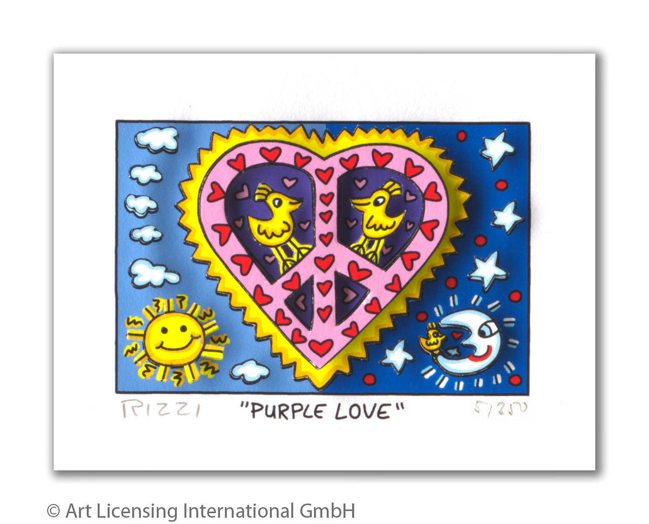 James Rizzi - PURPLE LOVE