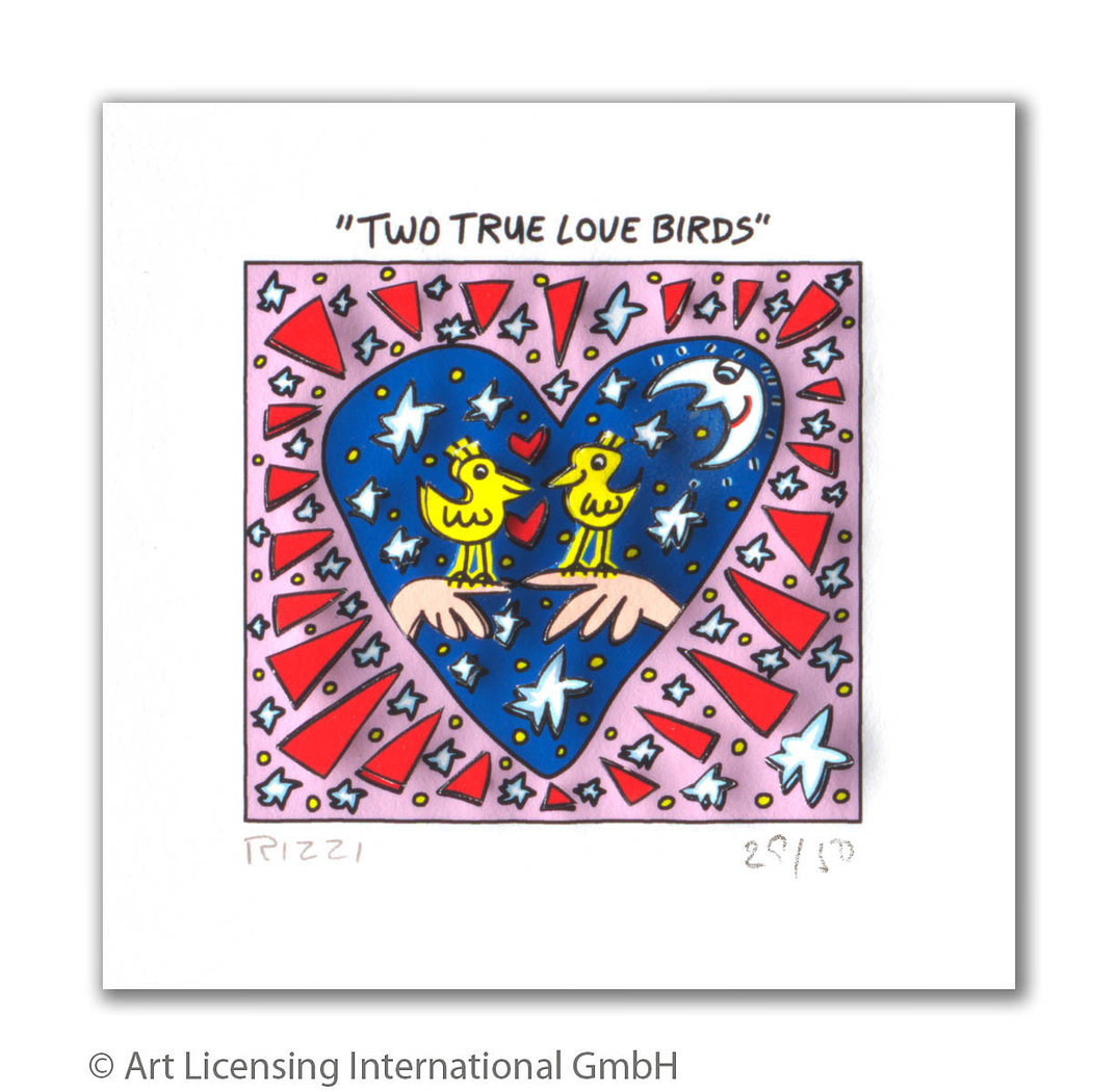 James Rizzi - TWO TRUE LOVE BIRDS