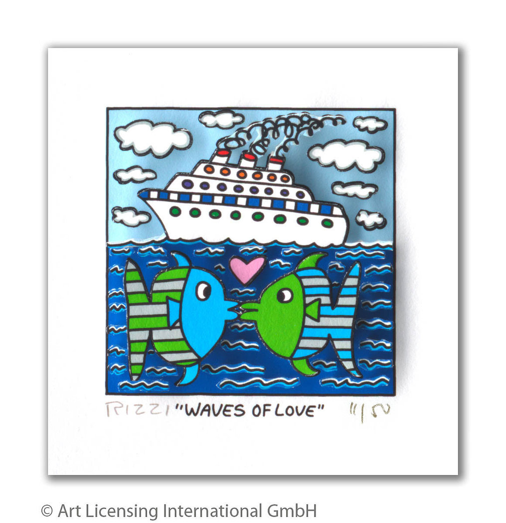 James Rizzi - WAVES OF LOVE