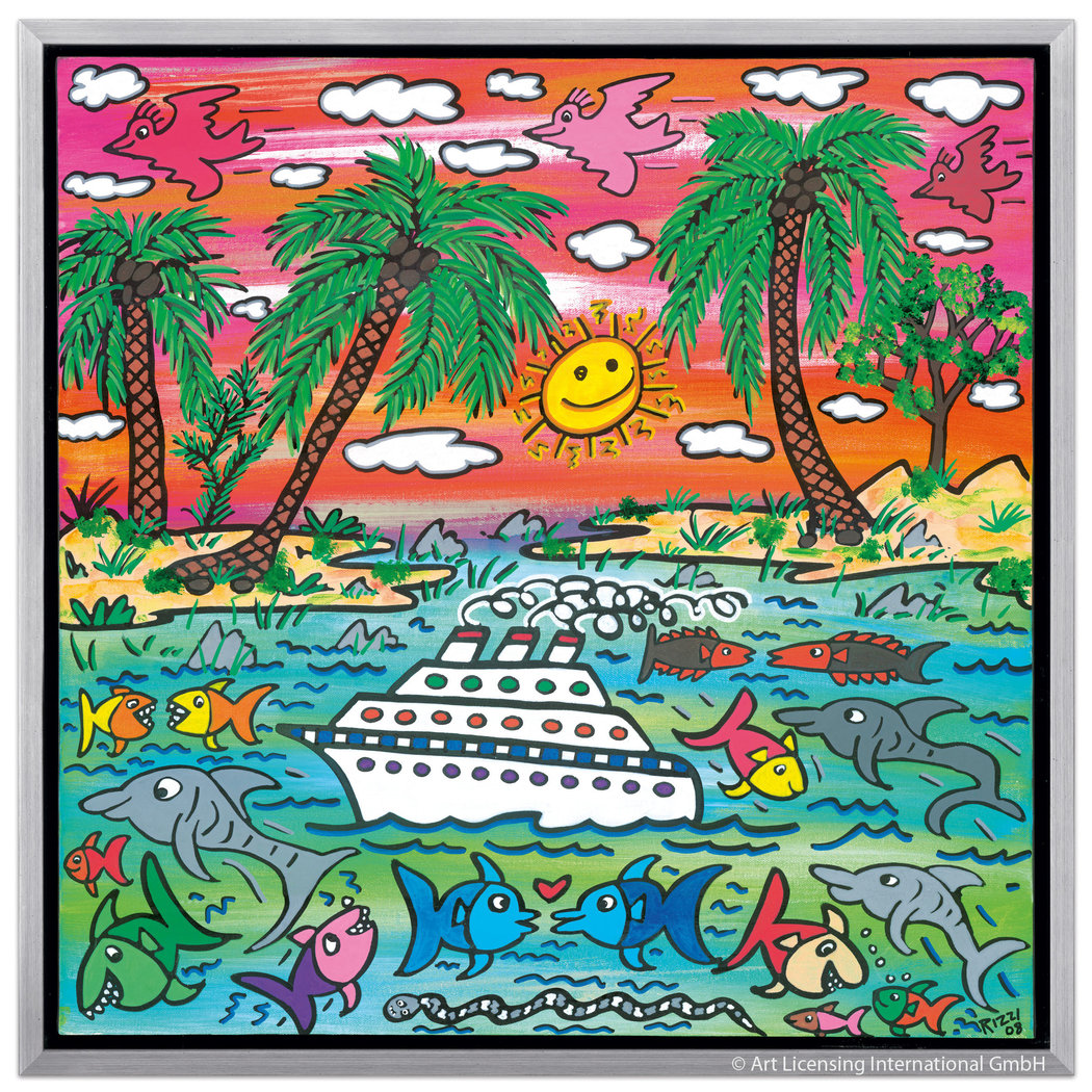 James Rizzi - A SUNSET CRUISE