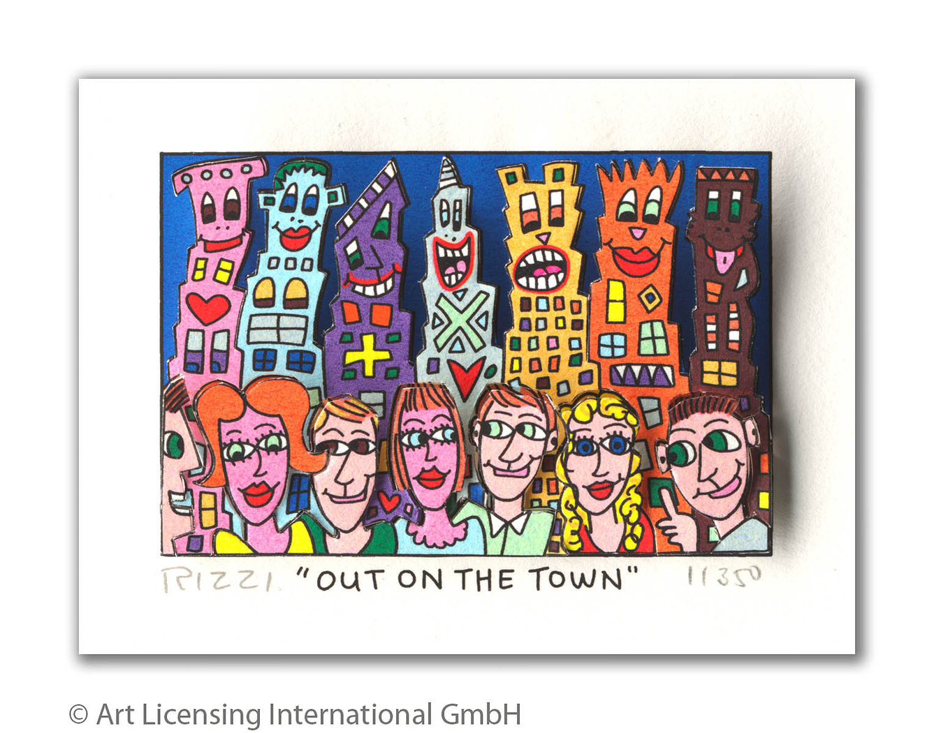 James Rizzi - OUT ON THE TOWN