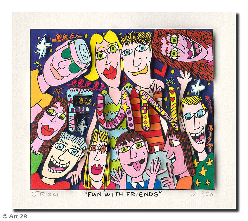 James Rizzi - FUN WITH FRIENDS