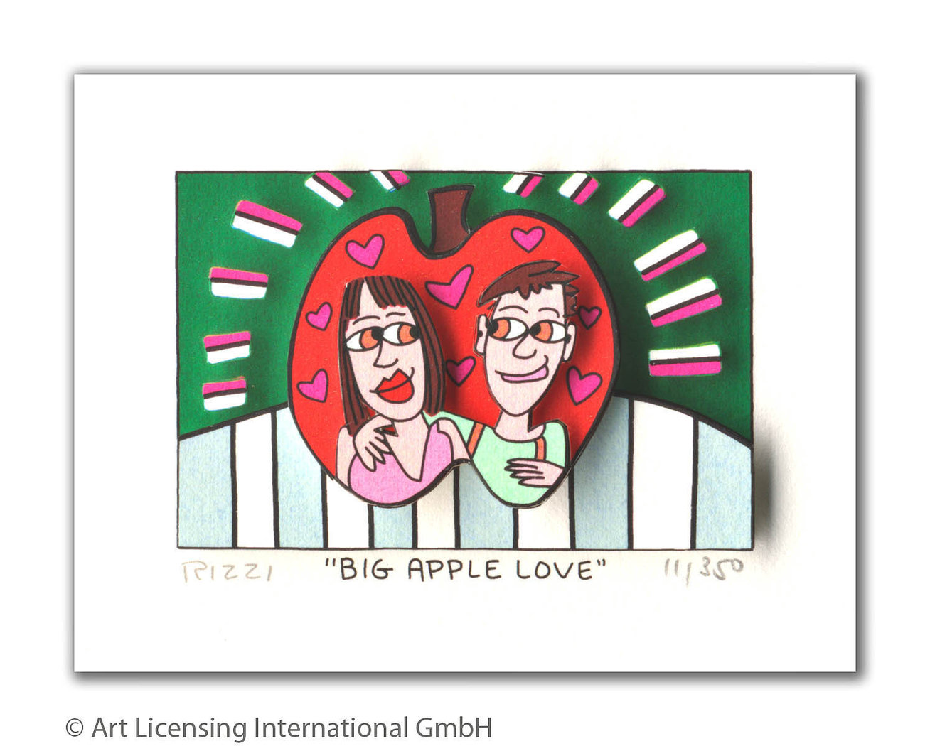 James Rizzi - BIG APPLE LOVE