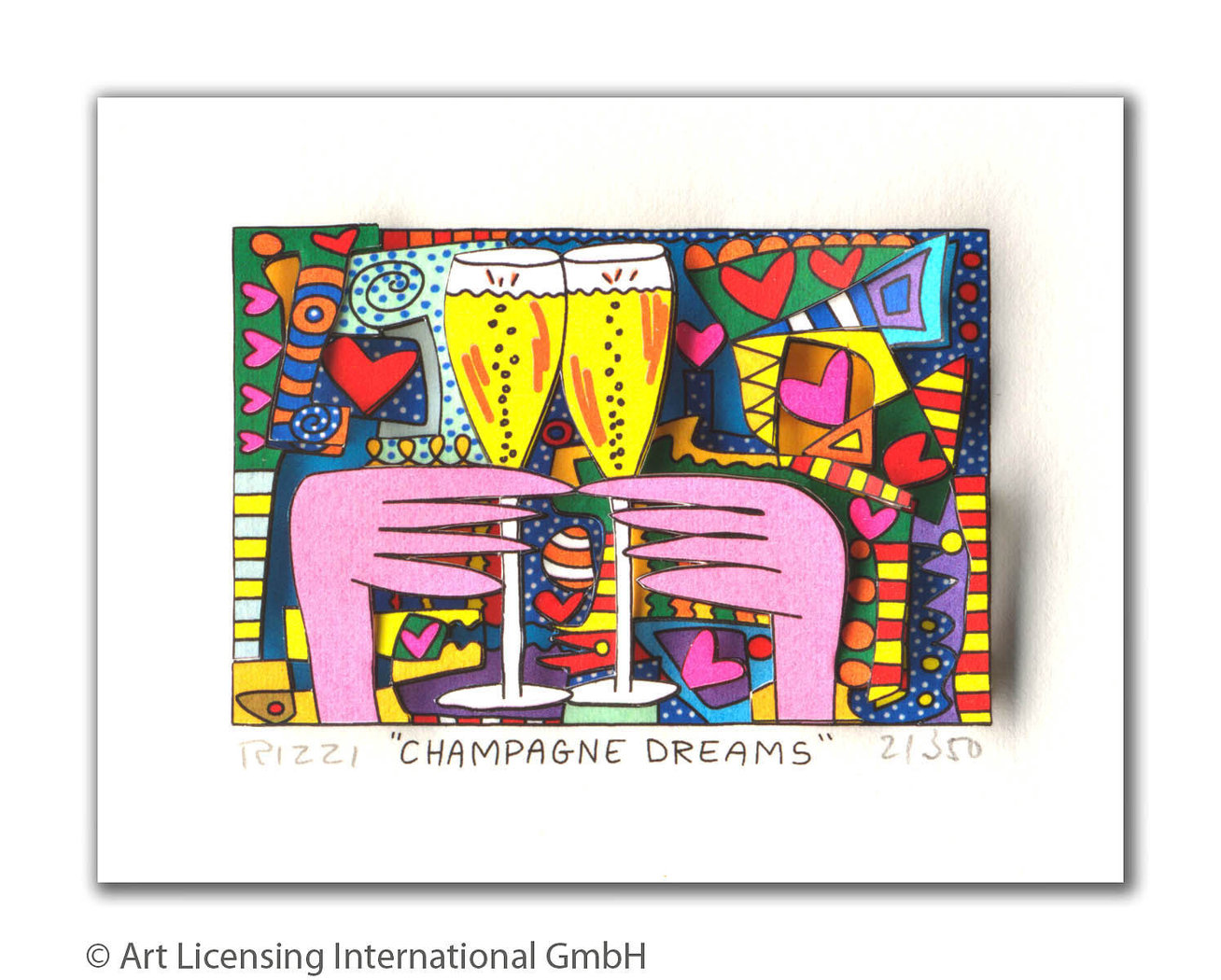 James Rizzi - CHAMPAGNE DREAMS